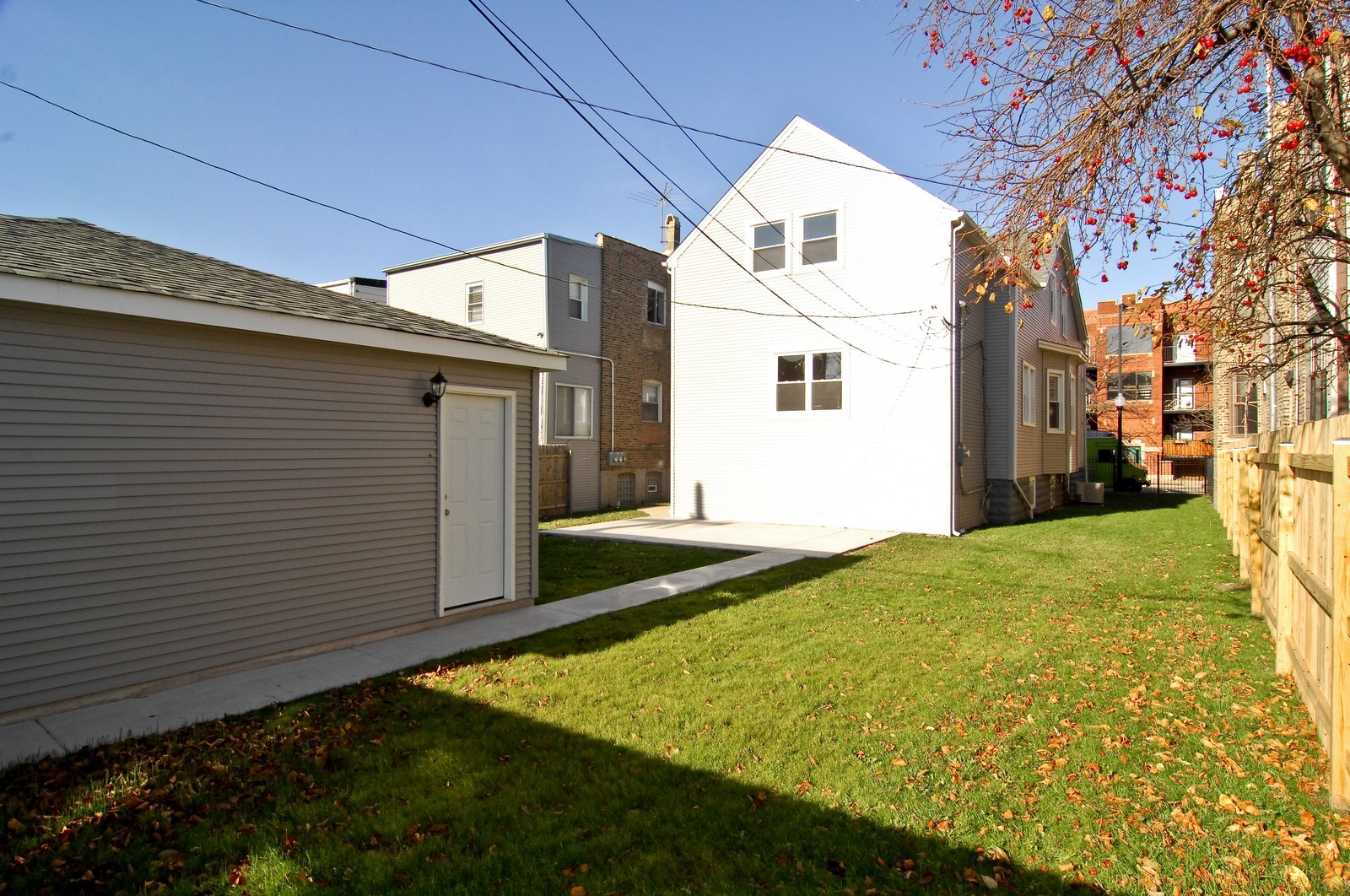 Real Estate Photography - 3743 W Wrightwood, Chicago, IL, 60647 - Rear View