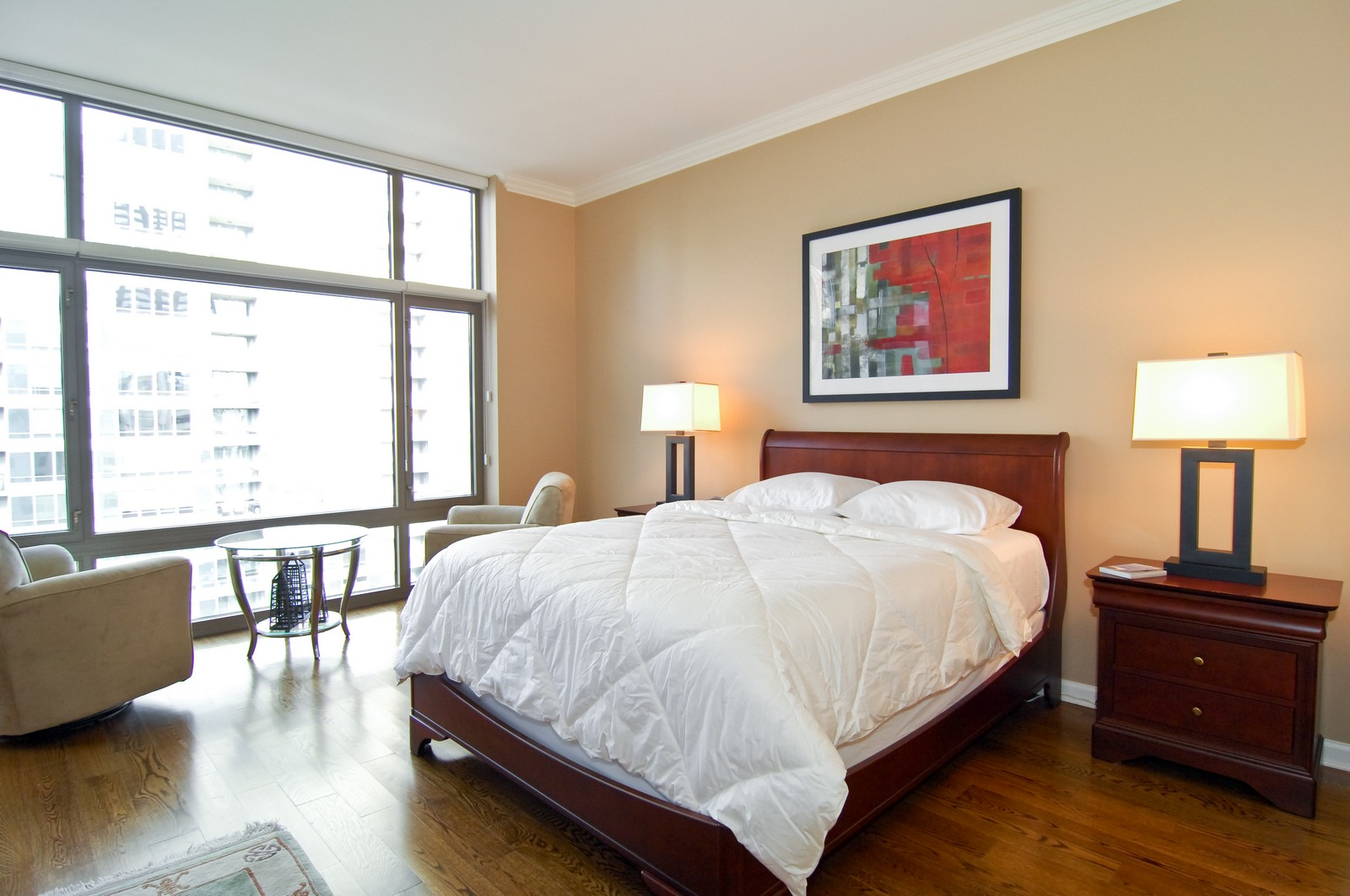 Real Estate Photography - 530 N Lake Shore Dr, Unit 2902, Chicago, IL, 60611 - Bedroom