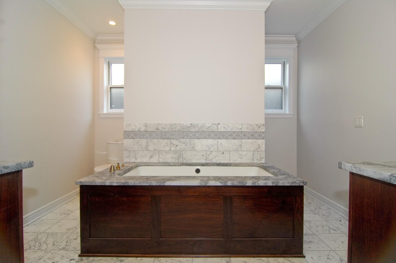 Real Estate Photography - 1845 W. Newport, Chicago, IL, 60657 - Master Bathroom