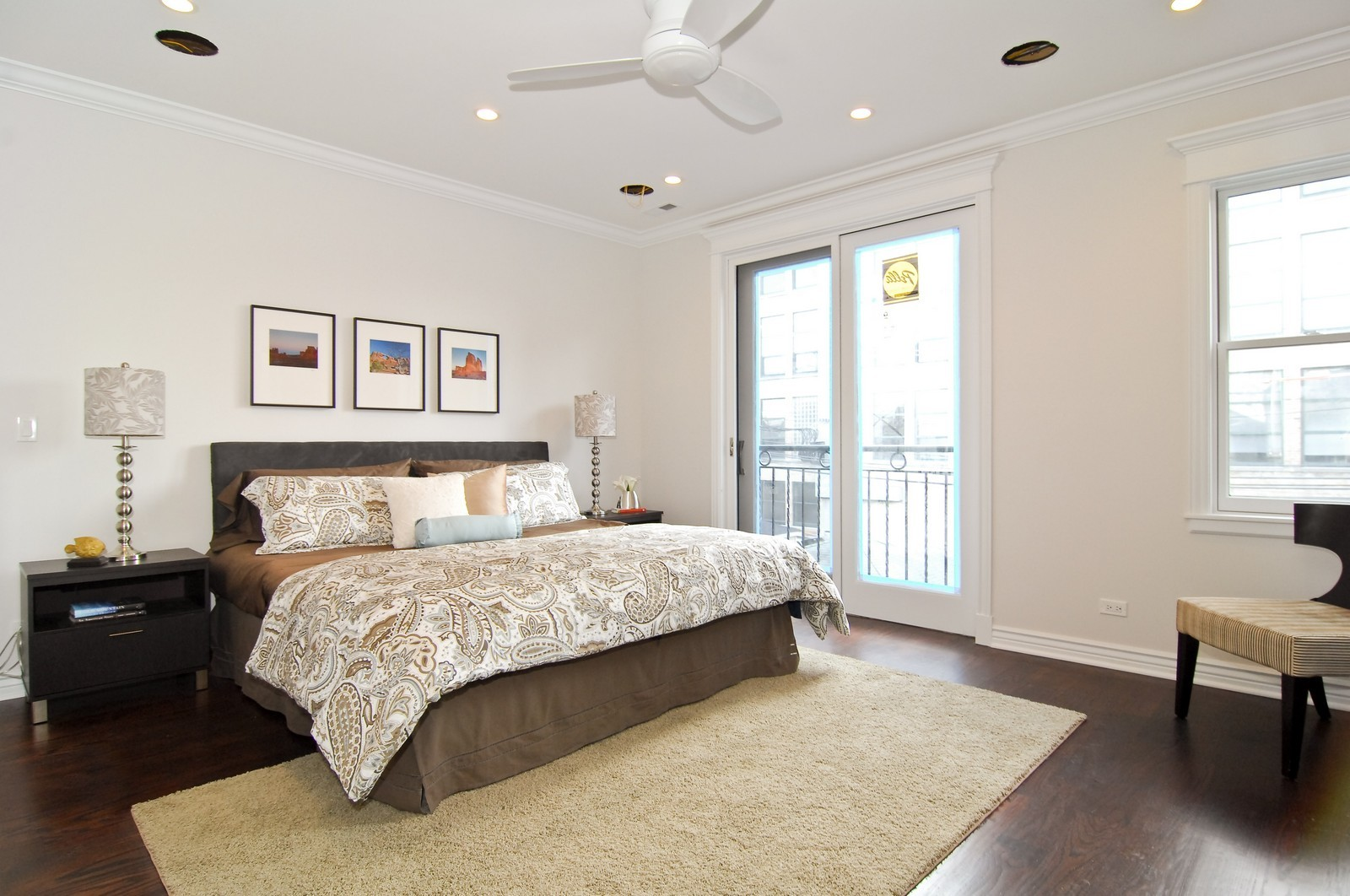 Real Estate Photography - 1845 W. Newport, Chicago, IL, 60657 - Master Bedroom