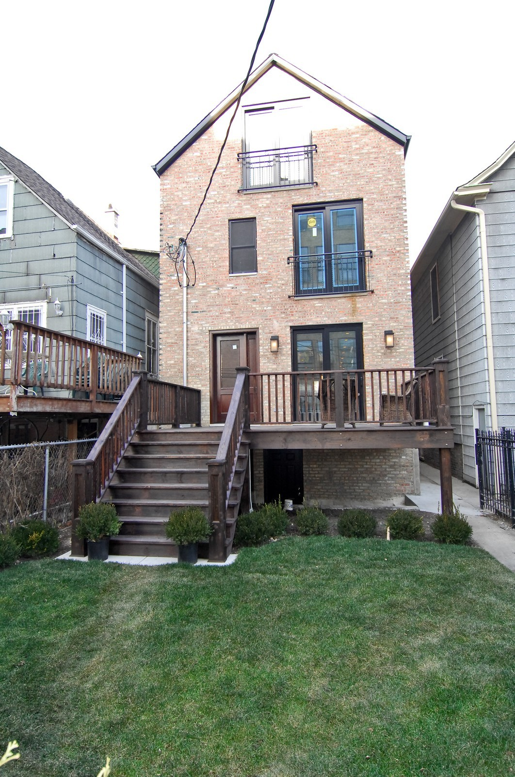 Real Estate Photography - 1845 W. Newport, Chicago, IL, 60657 - Rear View