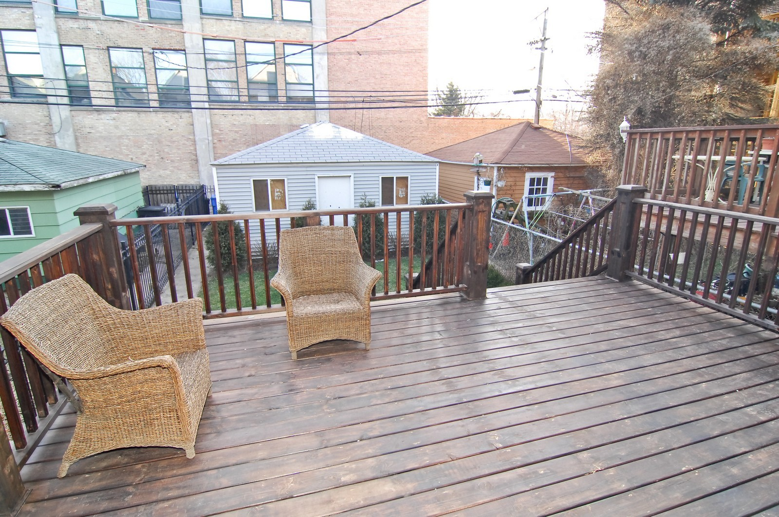 Real Estate Photography - 1845 W. Newport, Chicago, IL, 60657 - Deck