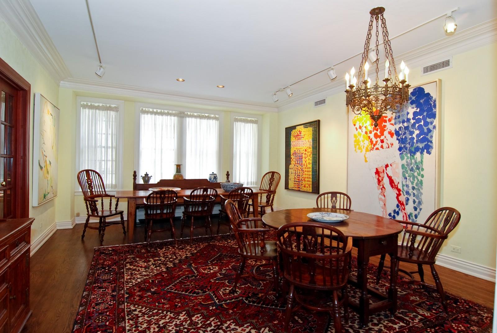 Real Estate Photography - 232 E. Walton, Unit 6E, Chicago, IL, 60611 - Dining Room