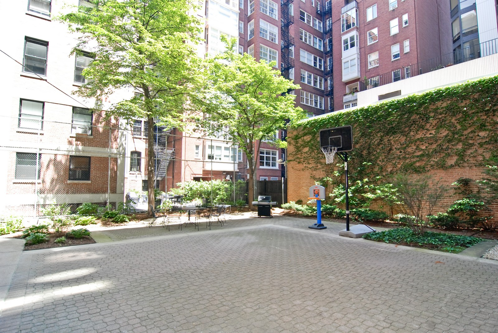 Real Estate Photography - 232 E. Walton, Unit 6E, Chicago, IL, 60611 - Back Yard
