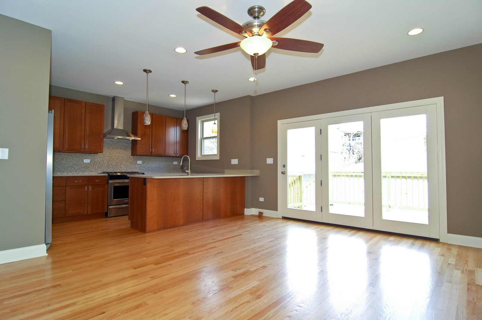 Real Estate Photography - 4306 N. Richmond, Chicago, IL, 60618 - Family Room/Kitchen