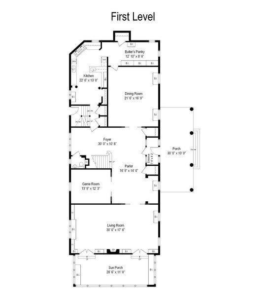 Real Estate Photography - 1000 E 48th St, Chicago, IL, 60615 - Floor Plan
