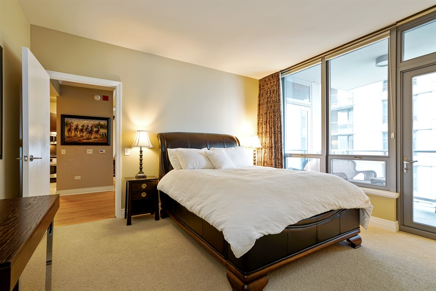 Real Estate Photography - 600 N Lake Shore Dr, 1410, Chicago, IL, 60611 - Master Bedroom