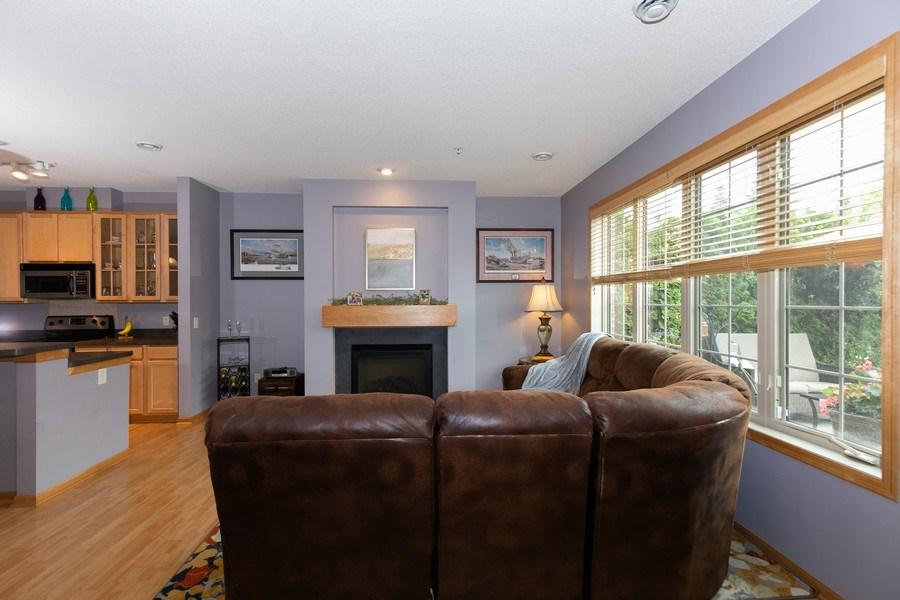 Real Estate Photography - 2411 119th Ct NE, #B, Blaine, MN, 55449 - Living Room