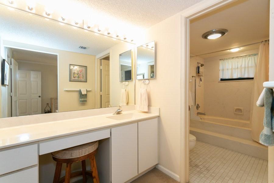 Real Estate Photography - 17109 WATERBEND DR 222, JUPITER, FL, 33477 - Master Bathroom