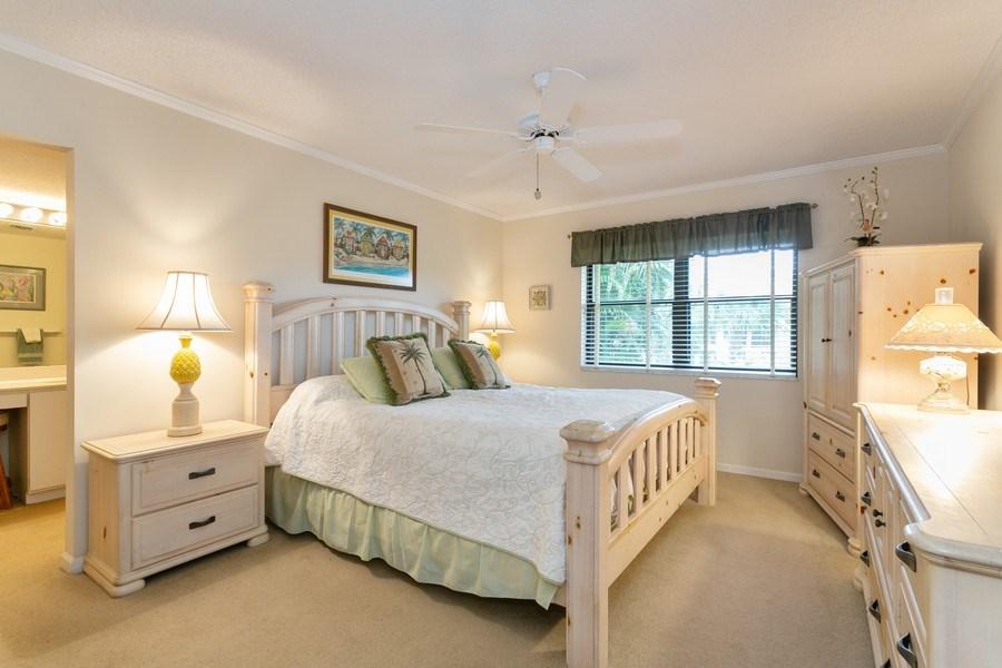 Real Estate Photography - 17109 WATERBEND DR 222, JUPITER, FL, 33477 - Master Bedroom