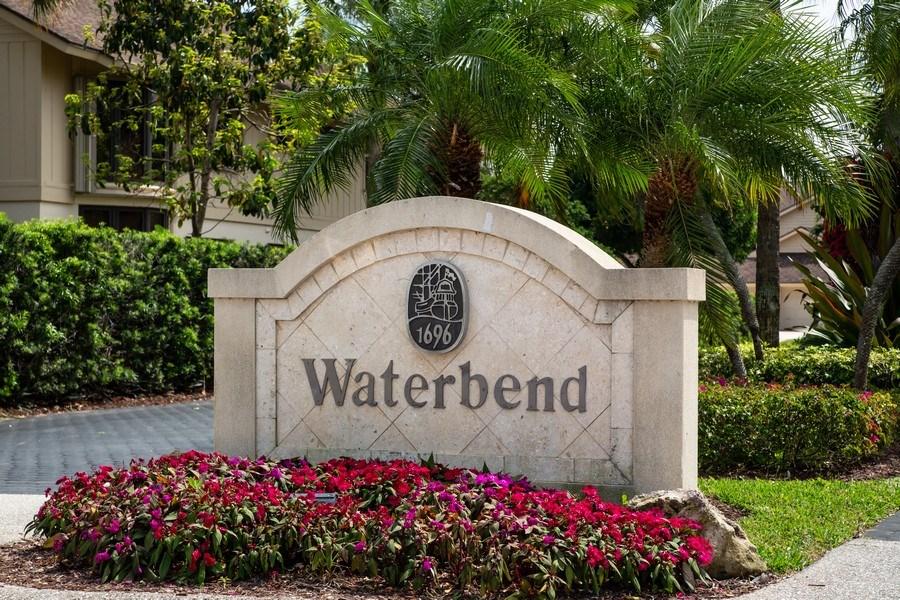 Real Estate Photography - 17109 WATERBEND DR 222, JUPITER, FL, 33477 - ENTRANCE SIGN