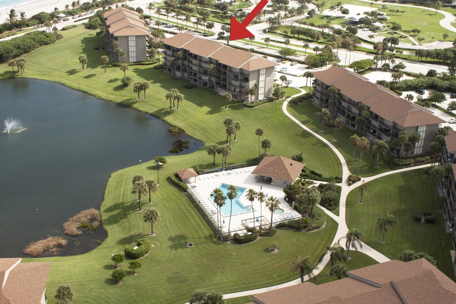 Real Estate Photography - 301 S. SEAS DR., APT. 302, JUPITER, FL, 33477 - Aerial View