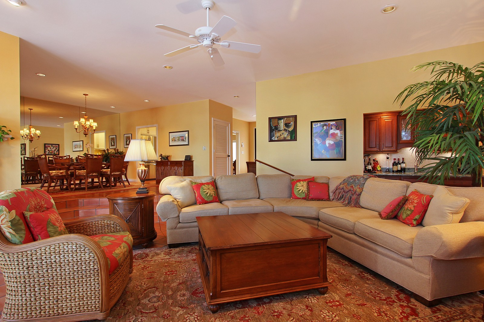 Real Estate Photography - 6509 SE South Marina Way, Stuart, FL, 34996 - Living Room / Dining Room