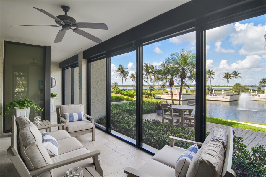 Real Estate Photography - 2814 SE Dune Drive, 2112, Stuart, FL, 34996 - Screened Patio