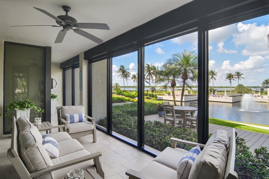 Real Estate Photography - 2814 SE Dune Drive, 2112, Stuart, FL, 34996 - Screened Patio