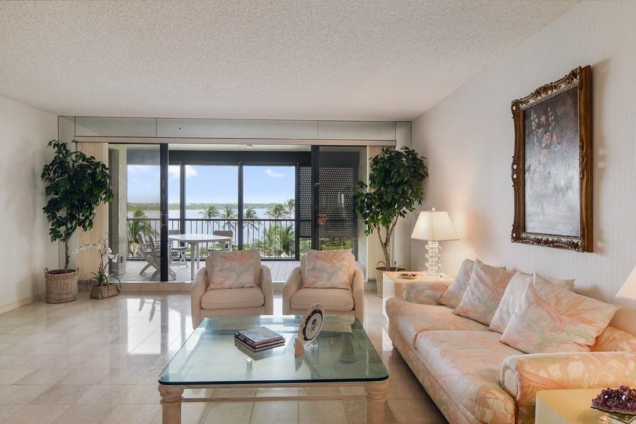 Real Estate Photography - 2816 SE Dune Drive, 2406, Stuart, FL, 34996 - Living Room