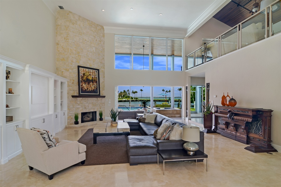 Real Estate Photography - 6879 SE South Marina Way, Stuart, FL, 34996 - Living Room