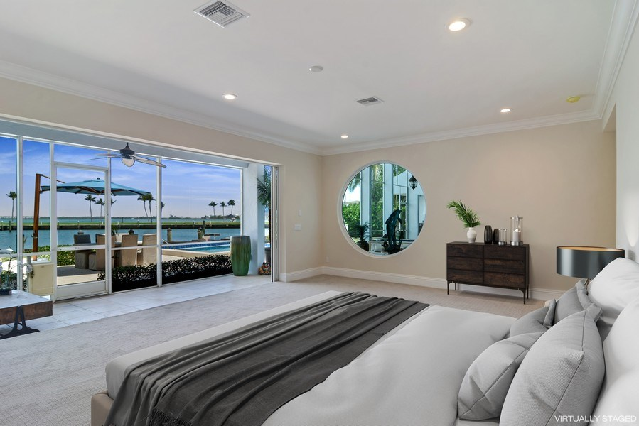 Real Estate Photography - 6879 SE South Marina Way, Stuart, FL, 34996 - Master Bedroom