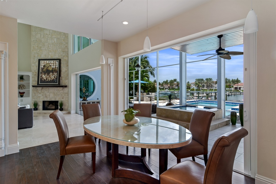 Real Estate Photography - 6879 SE South Marina Way, Stuart, FL, 34996 - Breakfast Area