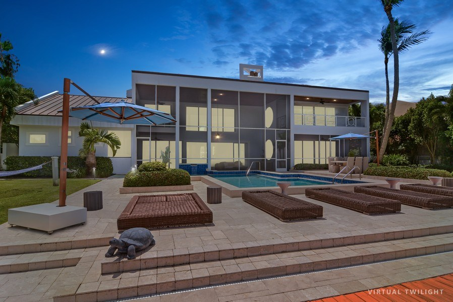 Real Estate Photography - 6879 SE South Marina Way, Stuart, FL, 34996 - Rear View