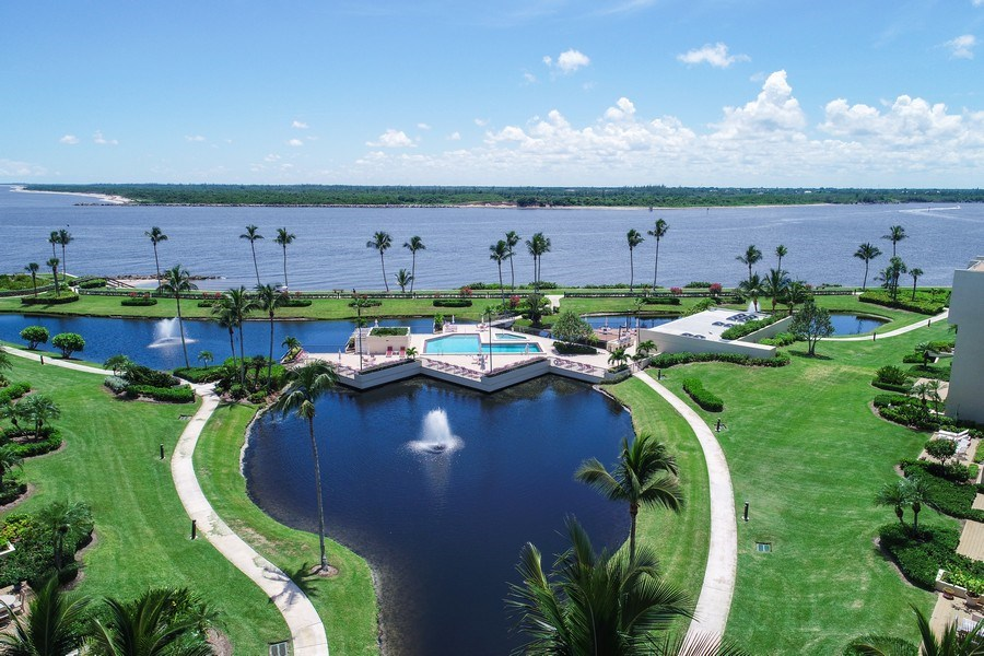 Real Estate Photography - 2814 SE Dune Drive, 2407, Stuart, FL, 34996 - Aerial View