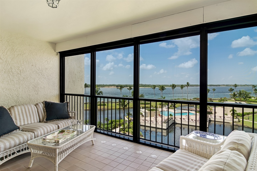 Real Estate Photography - 2814 SE Dune Drive, 2407, Stuart, FL, 34996 - Screened Balcony