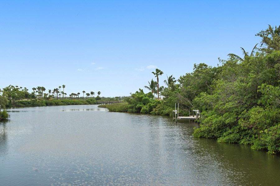 Real Estate Photography - 6967 Harbor Circle, Stuart, FL, 34996 - Private Dock with Kayak Lift
