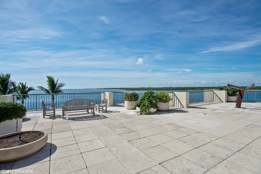Real Estate Photography - 2824 SE Dune Drive, 2401, Stuart, FL, 34996 - Terrace View to Ocean