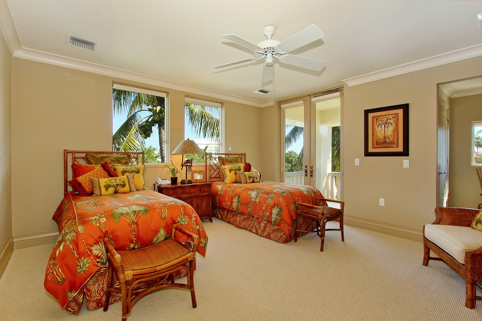 Real Estate Photography - 6814 SE Isle Way, Stuart, FL, 34996 - Guest Bedroom #3