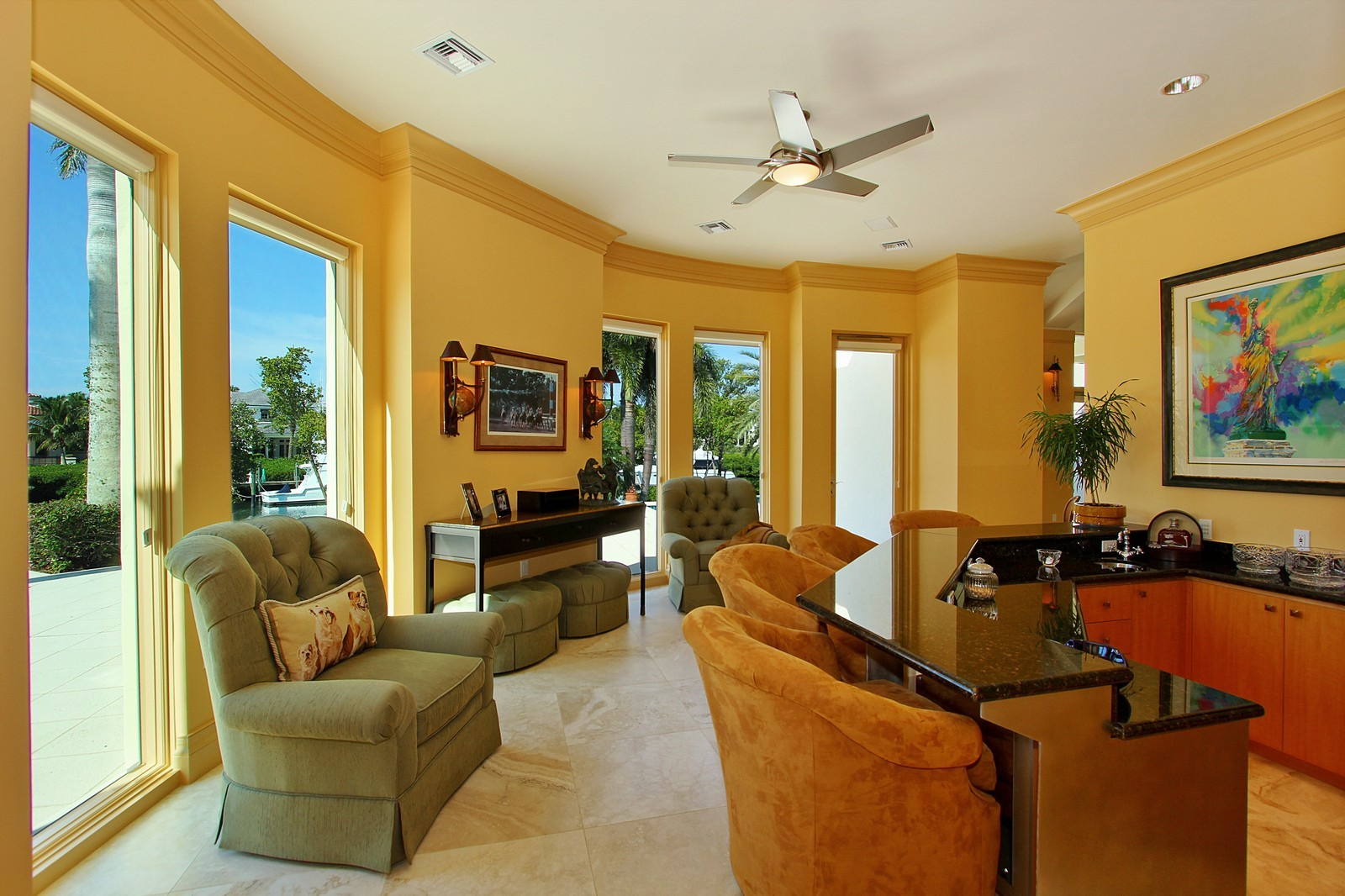 Real Estate Photography - 6814 SE Isle Way, Stuart, FL, 34996 - Lounge
