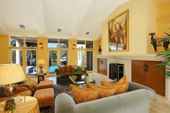 Real Estate Photography - 6814 SE Isle Way, Stuart, FL, 34996 - Living Room 1