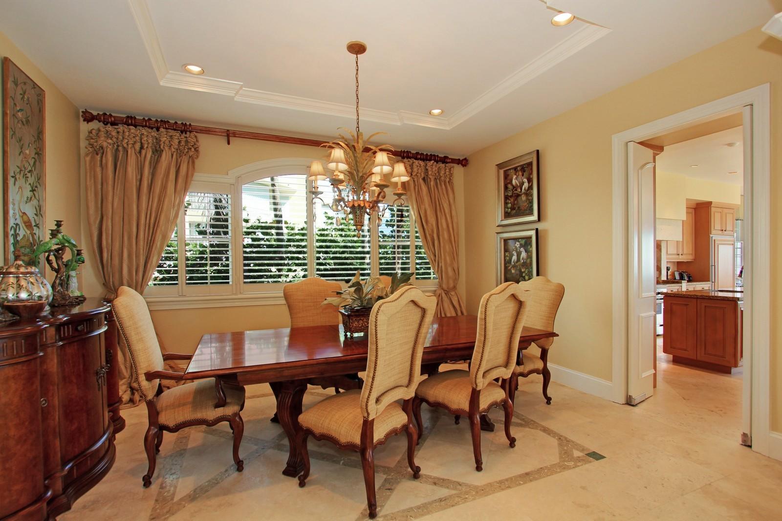 Real Estate Photography - 3047 SE Island Point Lane, Stuart, FL, 34996 - Dining Room