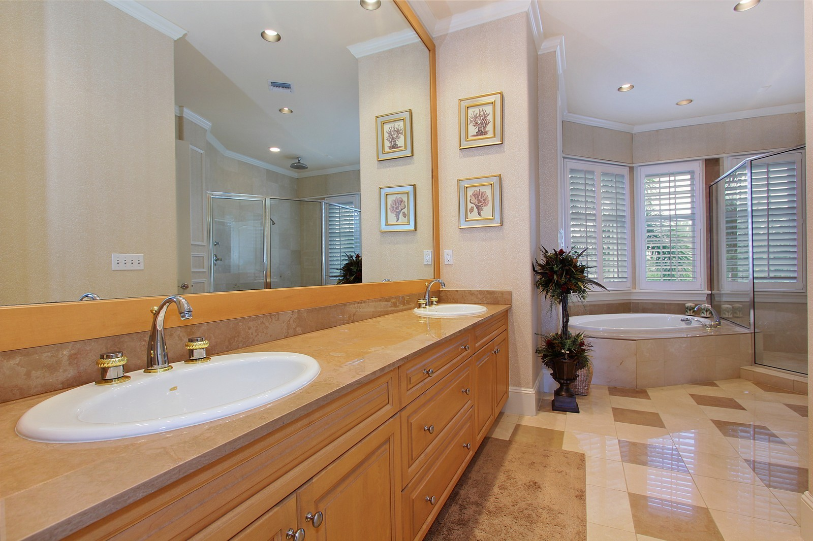 Real Estate Photography - 3047 SE Island Point Lane, Stuart, FL, 34996 - Guest House Bathroom 1 of 4 full baths