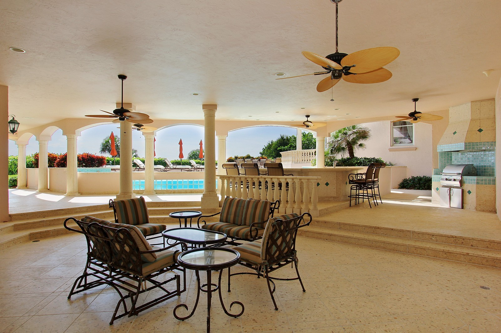 Real Estate Photography - 3047 SE Island Point Lane, Stuart, FL, 34996 - Loggia