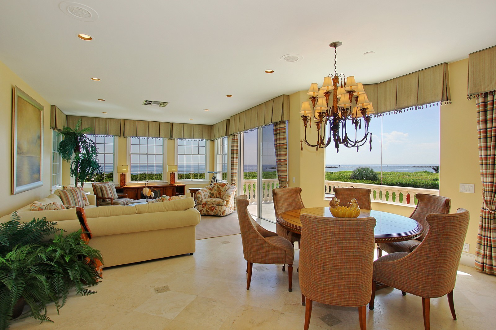 Real Estate Photography - 3047 SE Island Point Lane, Stuart, FL, 34996 - Breakfast Nook and Family Room
