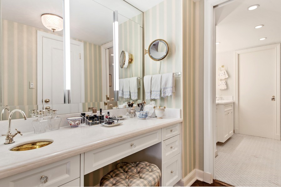 Real Estate Photography - 529 S Flagler Dr 26E/F, West Palm Beach, FL, 33401 - Dressing Vanity With Makeup Sink