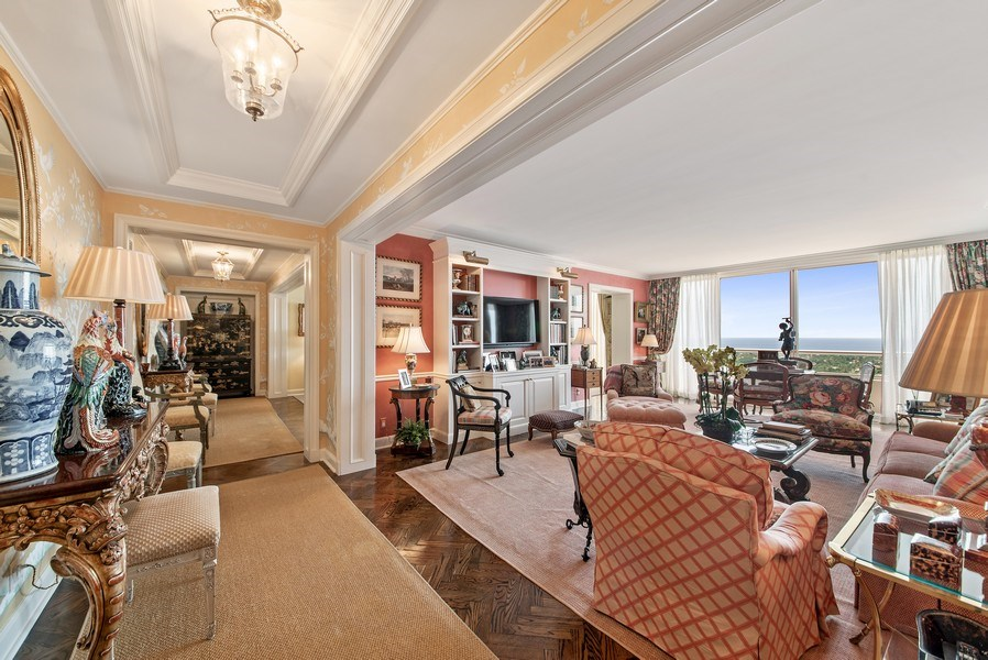 Real Estate Photography - 529 S Flagler Dr 26E/F, West Palm Beach, FL, 33401 - Formal Dining Room With Stellar Water Views