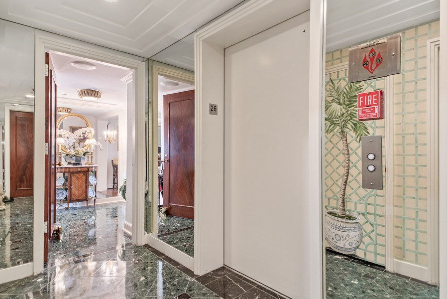 Real Estate Photography - 529 S Flagler Dr 26E/F, West Palm Beach, FL, 33401 - Private Secured Elevator Lobby