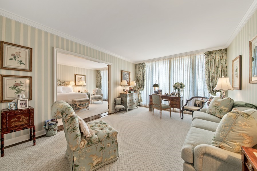 Real Estate Photography - 529 S Flagler Dr 26E/F, West Palm Beach, FL, 33401 - Master Sitting Room