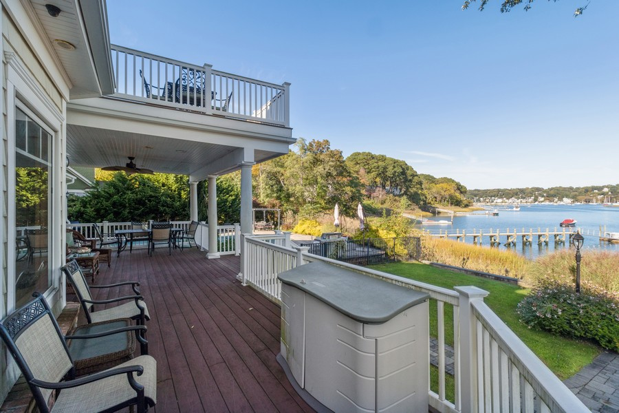 Real Estate Photography - 28 Sea Spray Dr, Centerport, NY, 11743 - Covered Back Porch