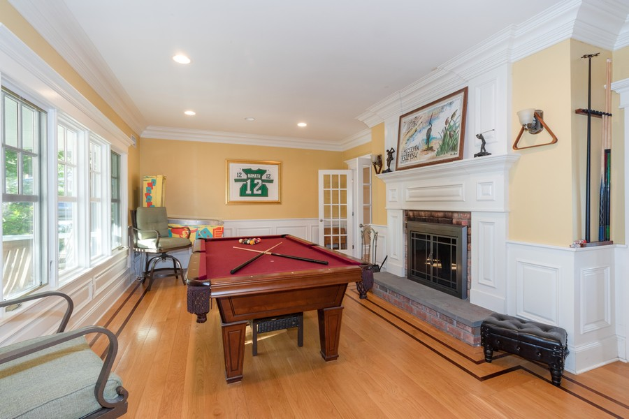 Real Estate Photography - 28 Sea Spray Dr, Centerport, NY, 11743 - Living Room w/ Fireplace