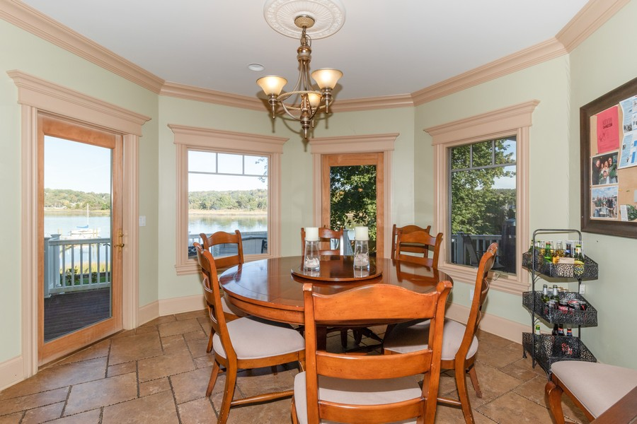 Real Estate Photography - 28 Sea Spray Dr, Centerport, NY, 11743 - Breakfast Nook and Entry to Back Porch