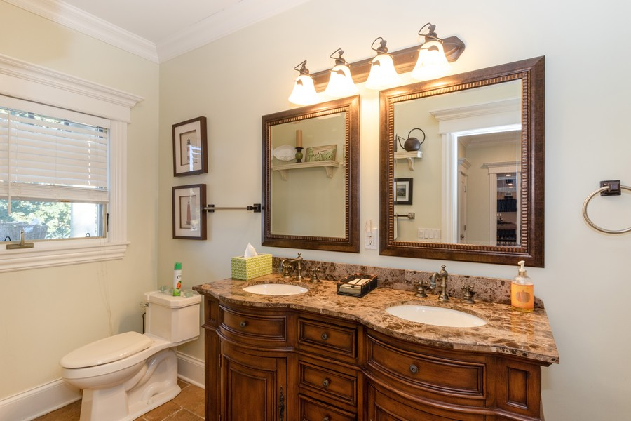 Real Estate Photography - 28 Sea Spray Dr, Centerport, NY, 11743 - Family Bathrom