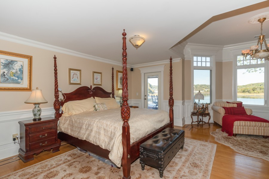 Real Estate Photography - 28 Sea Spray Dr, Centerport, NY, 11743 - Master Bedroom with Outside Porch