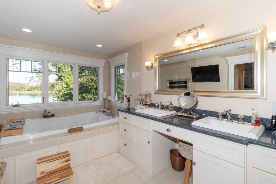 Real Estate Photography - 28 Sea Spray Dr, Centerport, NY, 11743 - Spa Master Bath w/ Steam Shower