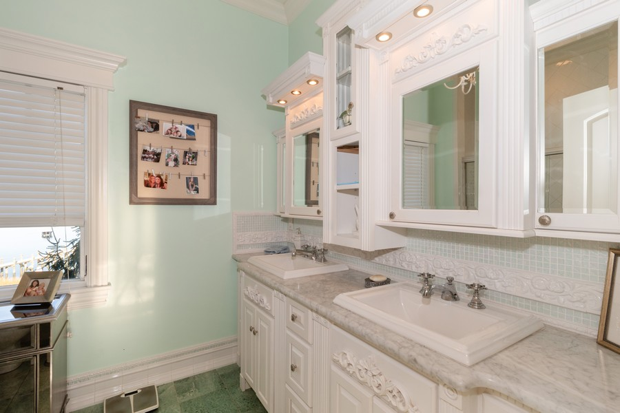 Real Estate Photography - 28 Sea Spray Dr, Centerport, NY, 11743 - Family Bathroom