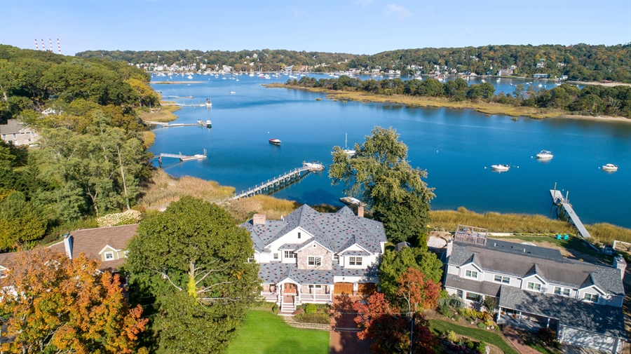 Real Estate Photography - 28 Sea Spray Dr, Centerport, NY, 11743 - Thriving Northport Village in Background