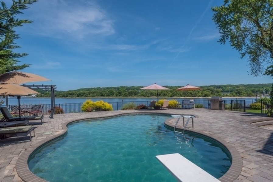 Real Estate Photography - 28 Sea Spray Dr, Centerport, NY, 11743 - Fabulous Pool on Waterfront