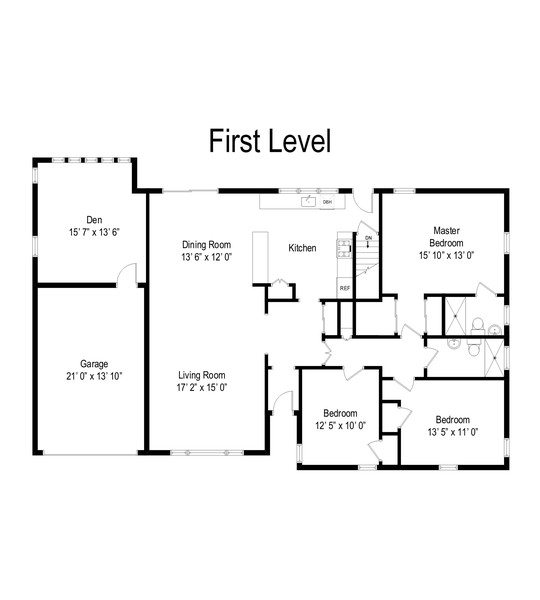 Real Estate Photography - 1436 Garfield Rd, East Meadow, NY, 11554 - Floor Plan