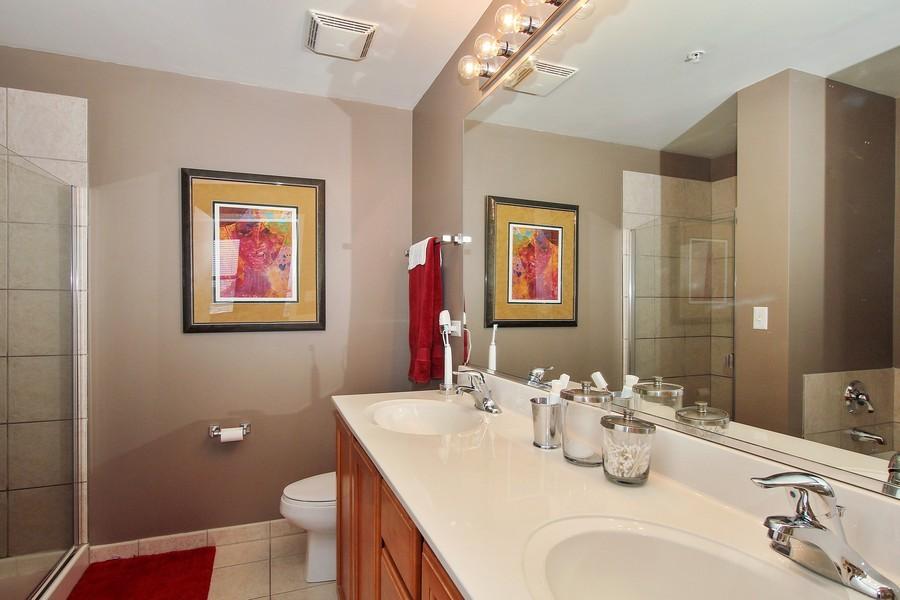 Real Estate Photography - 1717 S Prairie, Unit 1910, Chicago, IL, 60616 - Master Bathroom